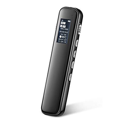 Digitales Diktiergerät, iRULU 16GB Digitaler Voice Recorder; HD-Stereo-PCM-Rauschunterdrückungsrekorder mit Wiedergabe, Sprachaktivierung für Vortrag Interview