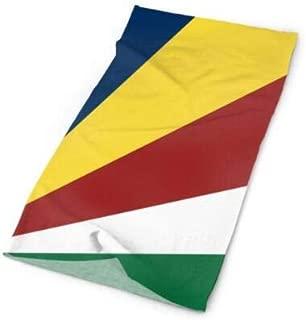 Annays Bandanas Seychellen Flagge Nahtlose Magie Multifunktionale Bandanna Klassische Personalisierte Outdoor Kopftuch Wrap Atmungsaktives Kopftuch Stirnb/änder