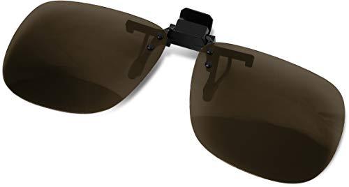 Storfisk fishing & more Sonnenbrillenaufsatz Brillenaufstecker Sonnenschutz Brillen-Clip, polarisiert, braun getönt