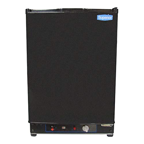 Superior Propane LP Gas Off-Grid Refrigerator 2 Cu Ft Compact 3-Way Cabin Camping