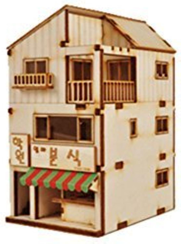 Desktop Wooden Model Kit Mini Store Residence   YG658 by Young Modeler