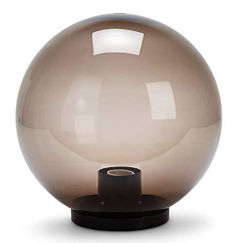 Velamp Sfera APOLUX SPH208 Globo, Lampione per Esterno, 200mm, Attacco E27, Compatibile LED, Impermeabile IP44, per Giardino, parchi, condomini, terrazzi, Fumè