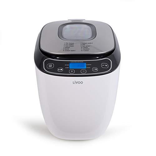 LIVOO Feel good moments - Machine à pain 550W, 12 programmes DOP218 Blanc