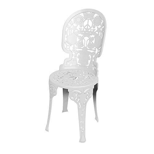Industry Collection Chaise en Aluminium 40 x 40 cm H.45/92 - Blanc