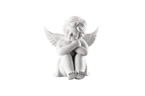 Rosenthal - Engel sitzend - mittel - weiß matt - Porzellan - 10cm