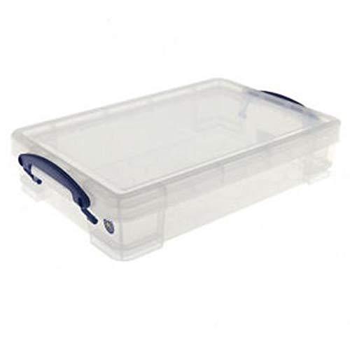Really Useful Box 3 x Aufbewahrungsbox 4,0 Liter - für A4 Papier - transparent