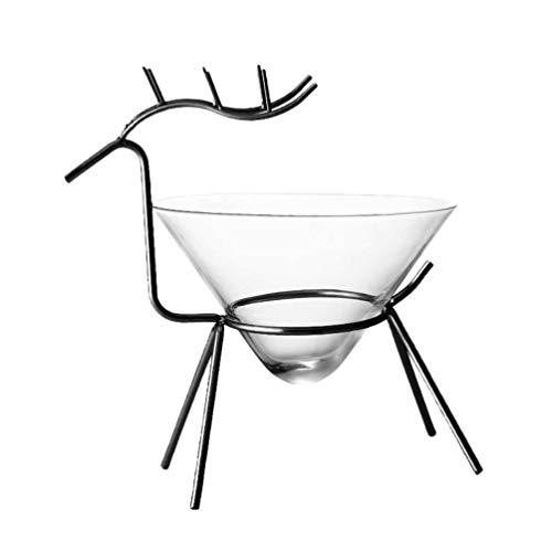 Cabilock Copa de Vino de Margarita Copa de Vino con Forma de Ciervo para Cóctel de Camarones Coronaritas Margaritas Bar Cafe (Negro)