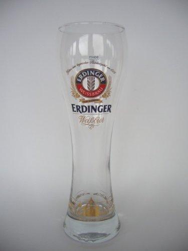 6er Set Erdinger Weißbier Weizenbierglas 0,5L mit Stadt Dekor