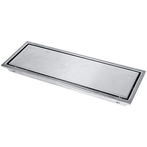 FTVOGUE Unsichtbarer Edelstahl-linearer Duschboden-Abfluss-Fliesen-Abflusskanal für Badezimmer-Küche(01)