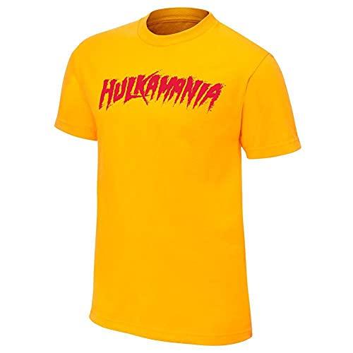 Hulk Hogan 'Hulkamania' amarillo T-de manga corta de mujer de esquí para hombre...