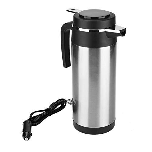 KIMISS 1200ML 12V / 24V Caldera del acero inoxidable del coche Hervidor de agua de eléctrica en el coche -- Hervidores de bebida de viaje Taza de café de viaje Botella de agua(24V)