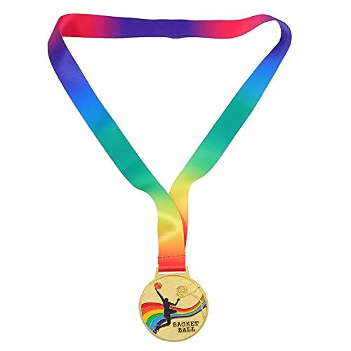 Cabilock 2 Piezas de Oro de Aleación de Zinc Medallas Ganadoras Medallas de Competición de Baloncesto Medallas de Competición Deportiva Medallas Día de Deportes Premios (Baloncesto)