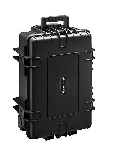 B&W Werkzeugkoffer JUMBO 6700 mobil mit Werkzeugeinsteckfächern (Koffer aus PP, Volumen 43,5l, 53,9 x 35,9 x 22,5 cm innen) 117.19/P, ohne Werkzeug