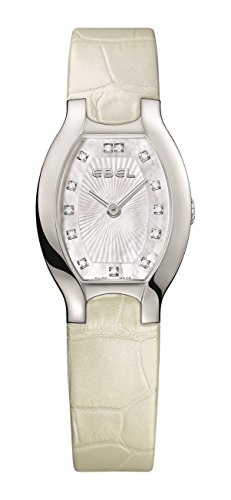 Ebel Women's White Leather Band Steel Case Swiss Quartz MOP Dial Watch...