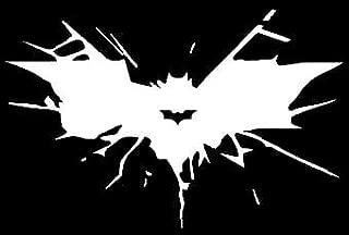 BATMAN CRASH White Decal Vinyl Sticker Cars Trucks Vans Walls Laptop  White  5.5 x 3 in LLI482
