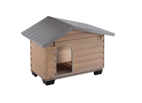 Ferplast 87020000 Hundehütte CANADA 2, aus Holz, Maße: 78 x 57 x 62 cm