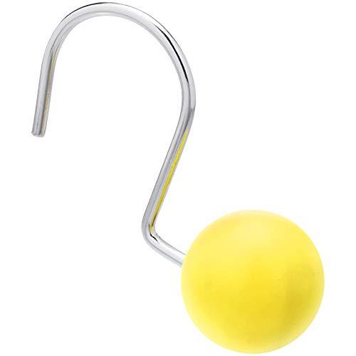 Amazon Basics – Haken für Duschvorhang, r&er Ball, gelb
