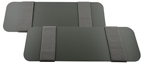 Visormates-Side Window Sun Visor Extenders (4x12 Gray with Gray Straps) Compatible with Your Existing Toyota Prius 2010-2015 Driver and Passenger Sun Visors