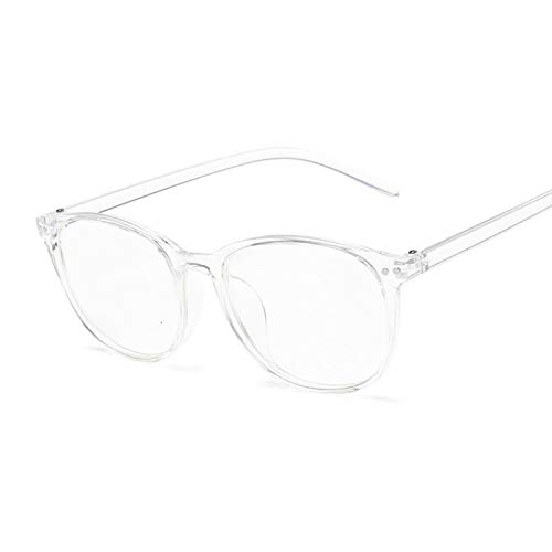 NJJX Gafas Con Remache Vintage, Montura De Ojo De Gato, Miopía, Anteojos Ópticos Para Mujer, Gafas Anti Azules, Cómodas, Lentes Transparentes Ligeras