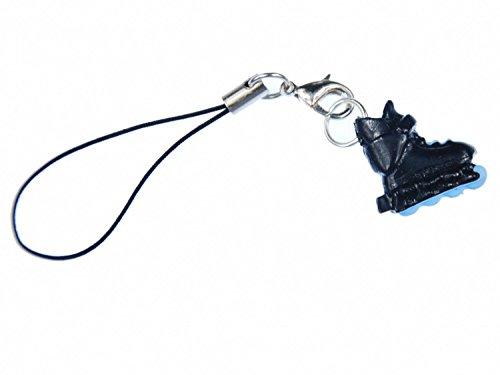 Miniblings Inlineskates Rollschuhe Handyanhänger Handyschmuck schwarz blau- Handmade Modeschmuck I Anhänger Handyschmuck Schlüsselanhänger