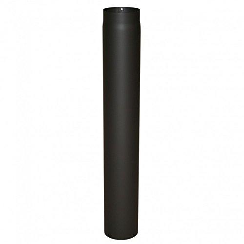 Kamino Flam Ofenrohr schwarz, Rauchrohr aus Stahl für sichere Ableitung von Verbrennungsgasen, hitzebeständige Senotherm Beschichtung, geprüft nach Norm EN 1856-2, Maße: L 1000 x Ø 130 mm