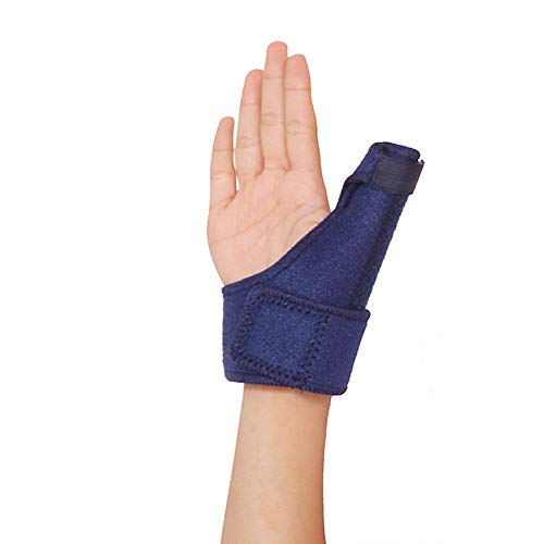Emoly Adjustable Reversible Thumb & Wrist Stabilizer Splint for Thumb Brace for Arthritis or Soft Tissue Injuries, Lightweight and Breathable, Stabilizing , Fits Both Hands -Single,Blue