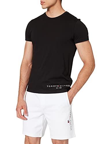 Tommy Hilfiger Herren Hilfiger Logo Tee T-Shirt, Schwarz, XL