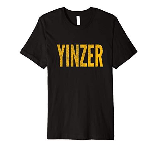 Yinzer, Pittsburgh Theme, Distressed Look Premium T-Shirt
