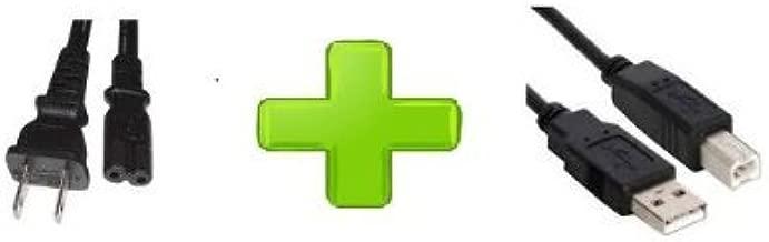HP Photosmart 5510 5520 6510 6520 B211A B8550 C310A Printer Fig 8 Power Cord + USB Cable Cord