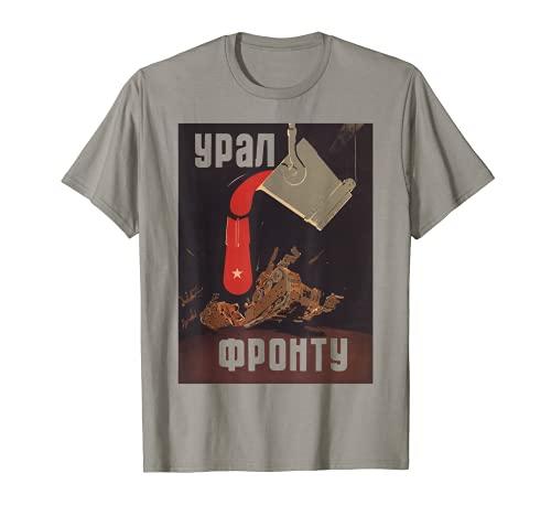 Affiche de propagande de l'Union soviétique vintage rétro de T-Shirt