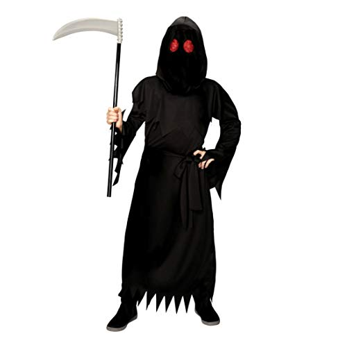 YT Electronic shop Halloween Adult Skull Phantom Costume with Light Up Red Eyes L