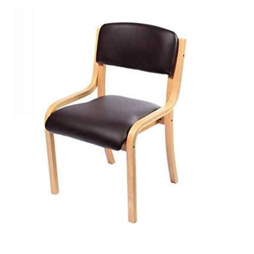 NAN liang Chaise de salle à manger simple en bois, chaises de réception modernes décontractées, chaise d'ordinateur avec dossier, chaise de bureau d'apprentissage pour enfants, 5 couleurs