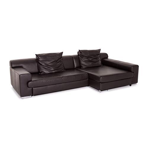 Ewald Schillig Donna Leder Ecksofa Braun Dunkelbraun Sofa Couch #13592