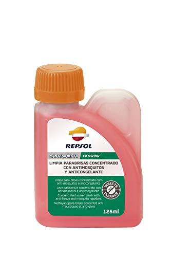 REPSOL Limpia Parabrisas Concentrado Antimosquitos y Anticongelante, 125 Ml