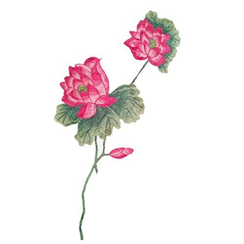 YuoungYuan Pegatinas para Ropa con Plancha Parches para Ropa Parches de Tela Cuello de Encaje Apliques para Ropa Bordado de Encaje De Encaje Pink