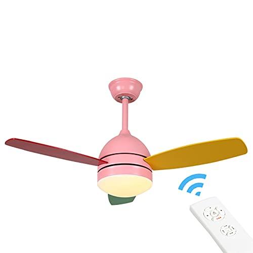 William 337 Fan Light Techo Ventilador Luz Creativo Macarrones Simple Moderno Comedor...