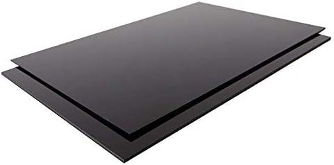 Top Qualität Stärke 2mm ABS Kunststoff Platte 220x220x2mm Farbe Schwarz