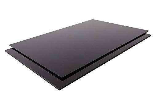 ABS Platte Kunststoff Platten SCHWARZ ODER WEIß | VIELE verschiedene FORMATE in Stärken 1-10mm TOP Qualität (100 x 49cm, 3mm SCHWARZ)