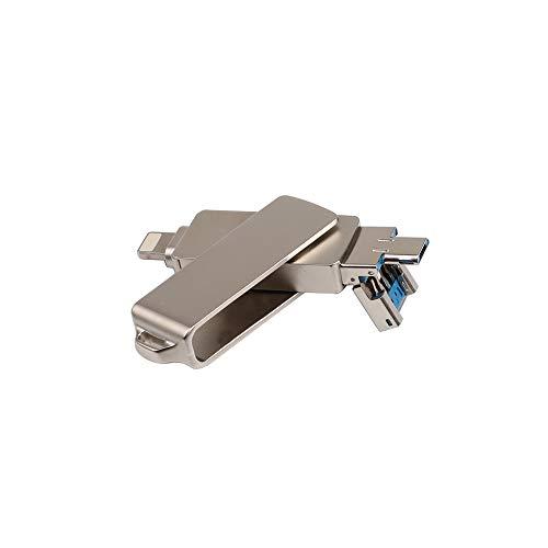 Docooler USB Flash Drive 3 em 1 relâmpago/Micro USB/USB 2.0 para iPhone iPad Mini Memory Stick 16 GB 32 GB 64 GB 128 GB Pen Drive U disco