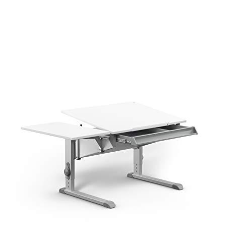 moll Sprinter Compact Kinderschreibtisch mit Schublade und Side Top, Holzwerkstoff, Weiß, 86cm ×...