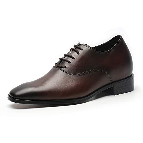 Faretti Elevator Shoes +7 cm Aufzug Anzug Lederschuhe Anzugschuhe Herren Business Leder Schuhe Größer Machen mit Versteckte Absatz Schuheinlagen Schuh Erhöhung Lift Schuhe Paolo I 38
