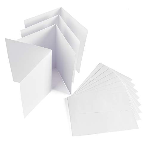 Sparset 50 x Faltkarten DIN B6 blanko weiß + 50 x Umschläge