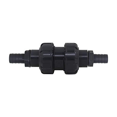 Valvula retencion pvc conexion manguera valvula antirretorno bola retencion pozo no retorno agua piscina cocina drenaje (Roscado 1/2' + OD12mm)