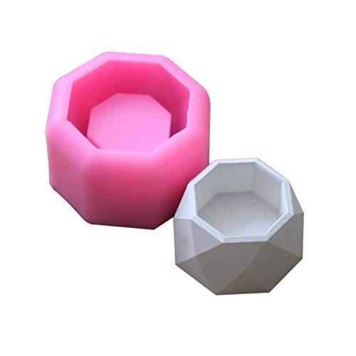 Long Diamond Concrete Flower Pot Vase Slicone Mould Creative Geometric Gypsum Succulent Plant Flower Potted Molds Candle Making Tools Durable (Color : 1)