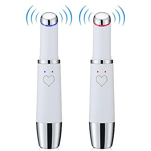 DOUBEI Mini Massager de Ojos eléctricos Calor Vibración Ojo Labios Massager Beauty Pen Skin Lifting Anti Arrugas Calefacción Masaje Máquina de Masaje