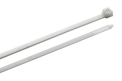 Meister Kabelbinder - Praktisches Set - 25 Stück - weiß - 550 x 7,6 mm - Stabiles Nylon - Formbeständig - Langlebig & robust / Kabelbinder-Set für Bündelgut / Kabelverbinder / 7452650