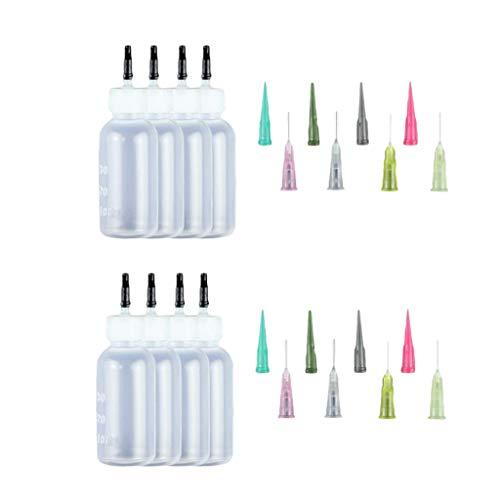 F Fityle 8pcs Bouteilles Vide en Plastique Flacons Distributeurs Huiles