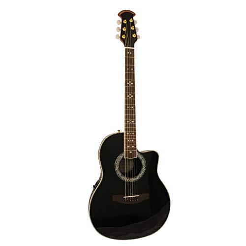 Santana OV-90CWEQ HG BK - Guitarra sajona, color negro