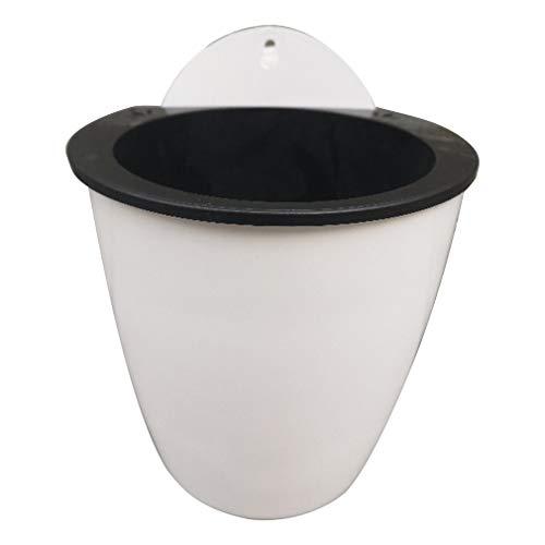 Modern Design Home Muur Opknoping Ontwerp Bloempot Ronde Vorm Hars Hydrocultuur Chlorophytum Ingemaakte Bloempotten Wit 110 #