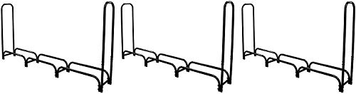 Best Price! Landmann 82443 Firewood Rack with Cover, 8-Feet, Black (Pack of 3)